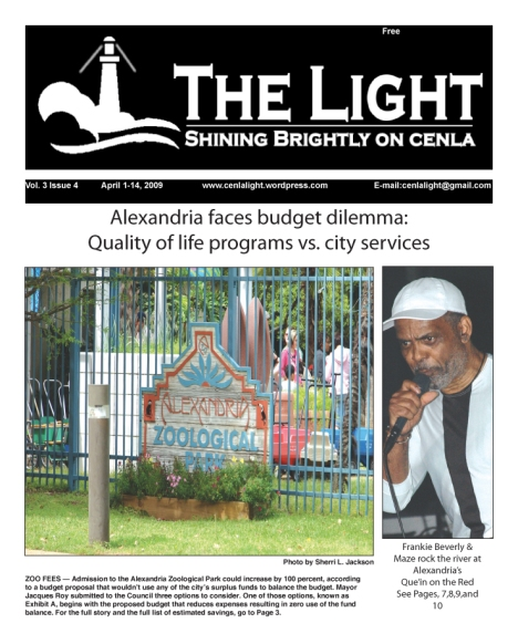 April 1 cover of The Light