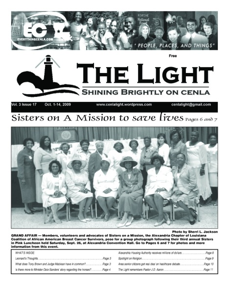 The Light, Oct. 1-14, 2009 cover